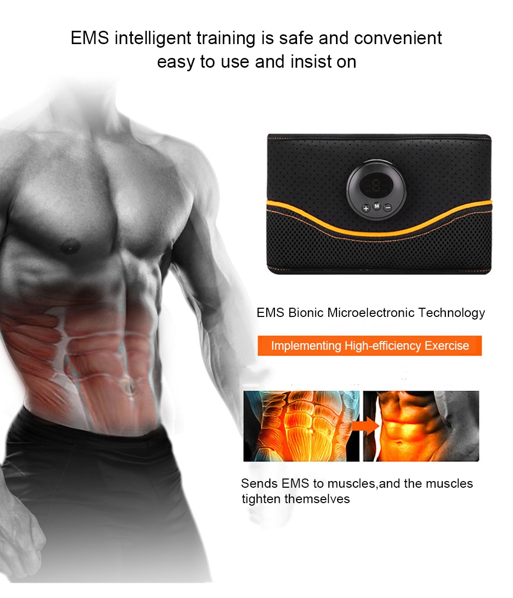 Abdominal Muscle Trainer EMS Electric Stimulator Massager Fat Burning Fitness Bodybuilding Pain Therapy Machine Diet Equipment
