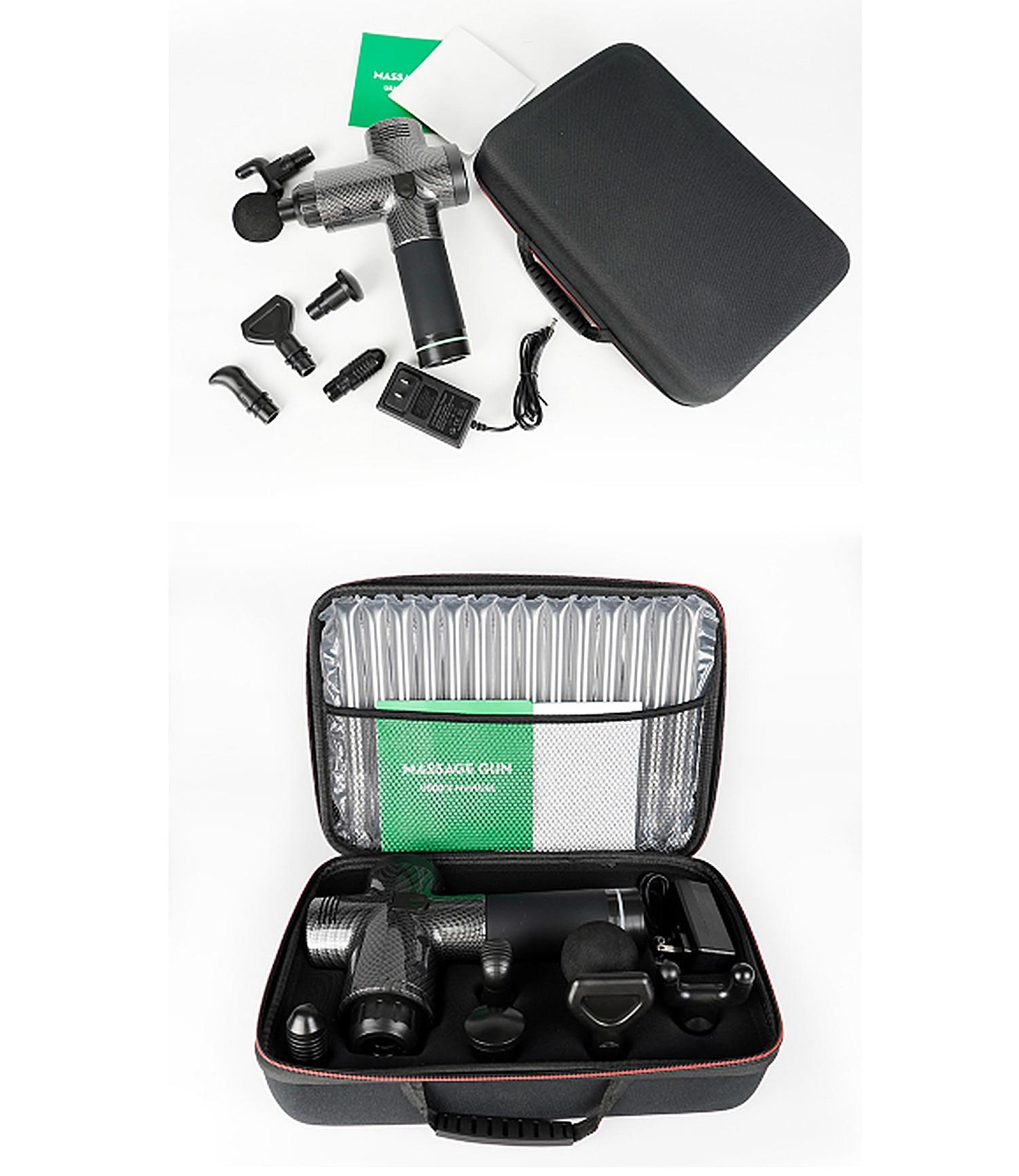 Silent Vibration Massage Gun Rechargeable Touch Screen Massager Speed Change Gear Deep Muscle Relaxation Fitness Equipment