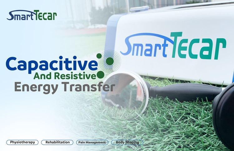 Smart Tecar Physical Therapy Machine CET RET Energy Transfer RF Diathermy Device for Muscle Pain Relief Cellulite Reduce