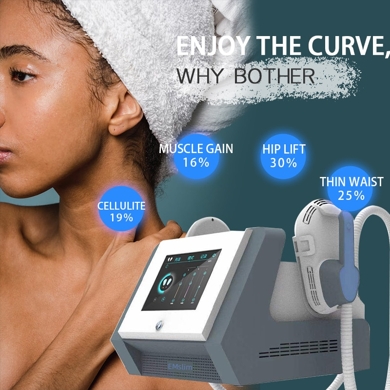 2021 New Weight Loss Equipment Body Sculpting Machine Fat Removal Cellulite Reduction EMS Hi-Emt EMSlim Machine For Home