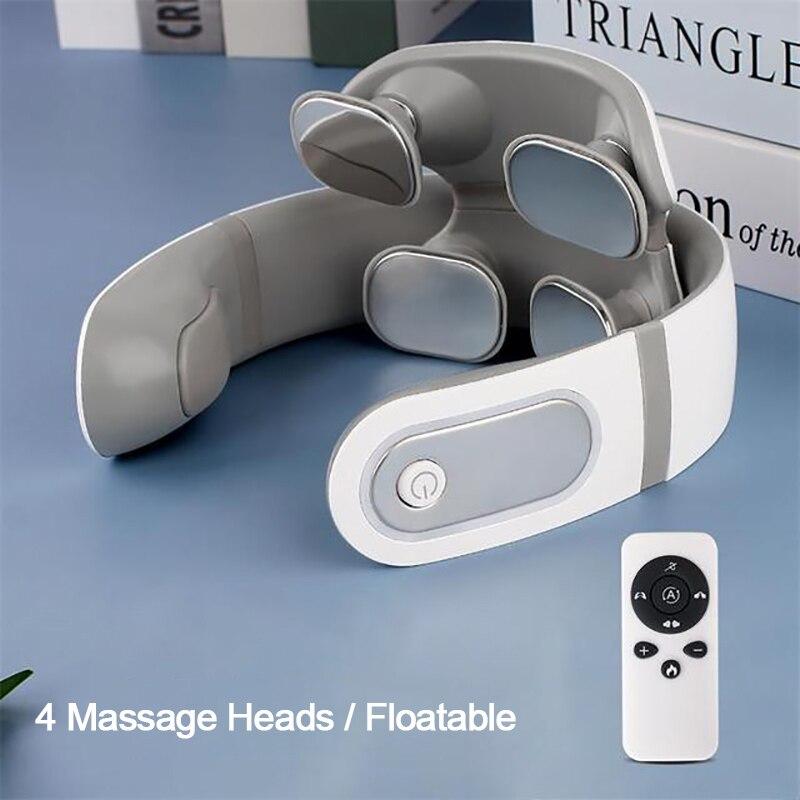 TENS Pulse Vibration Shoulder Massage for Neck Pain Relief Health Care Relaxation Deep Tissue Cervical Neck Massager Machine