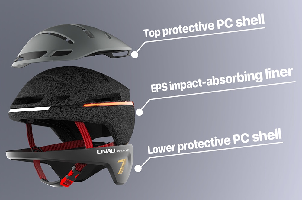 LIVALL EVO21 Smart MTB Bicycle Helmet Men Women Lighting Road Bike Cycling Electric scooter Helmet SOS alert Motorcycle Helmet