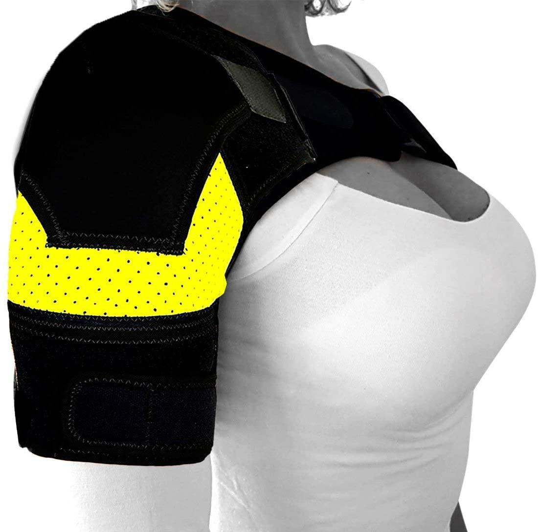 Shoulder Brace with Pressure Pad  Neoprene Shoulder Support Shoulder Pain Ice Pack Shoulder Compression Sleeve