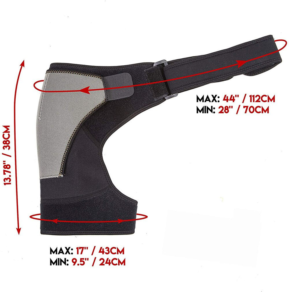 1Pc Adjustable Compression Shoulder Brace Support with Ice Pack Holder for Injury Prevent Sprain Soreness Tendinitis Bursitis