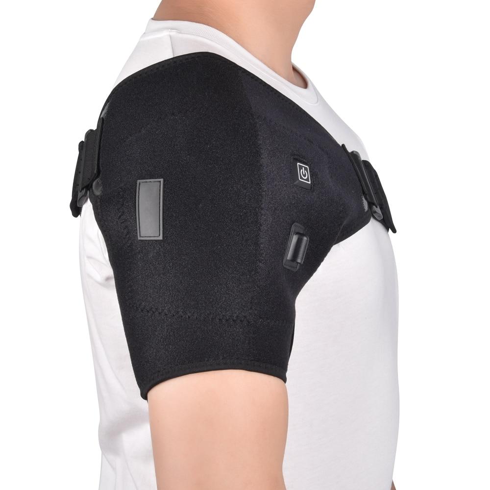 Heat Therapy Shoulder Brace Adjustable Shoulder Heating Pad for Frozen Shoulder Bursitis Tendinitis Strain Hot Cold Support Wrap