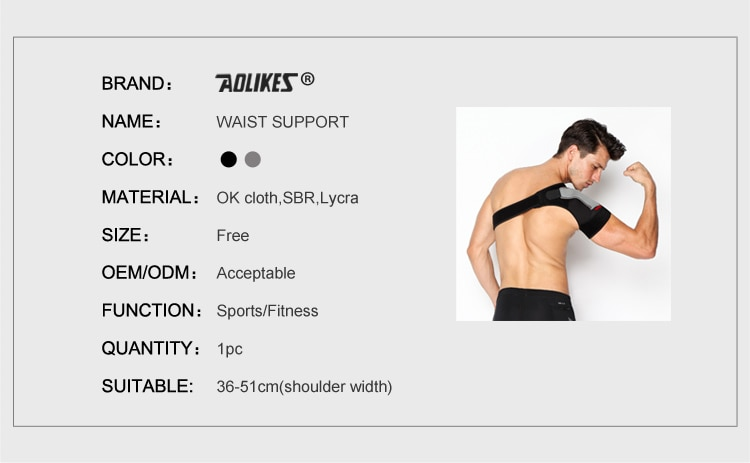 Strap Wrap Belt Band Pads Black Bandage Adjustable Breathable Gym Sports Care Single Shoulder Support Back Brace Guard  MenWomen
