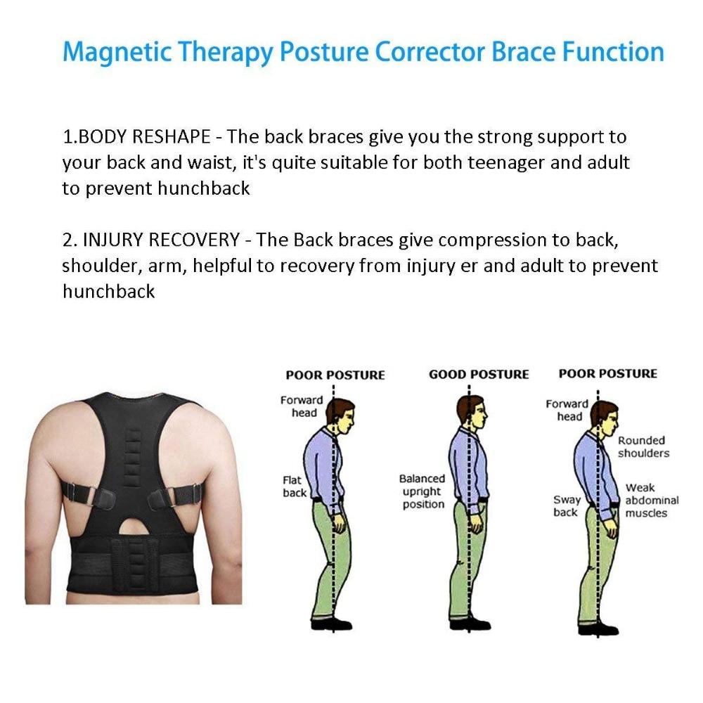 Magnetic Therapy Posture Corrector Brace Supporter Shoulder Back Support Belt Menwomen Braces and Support Belt Shoulder Posture