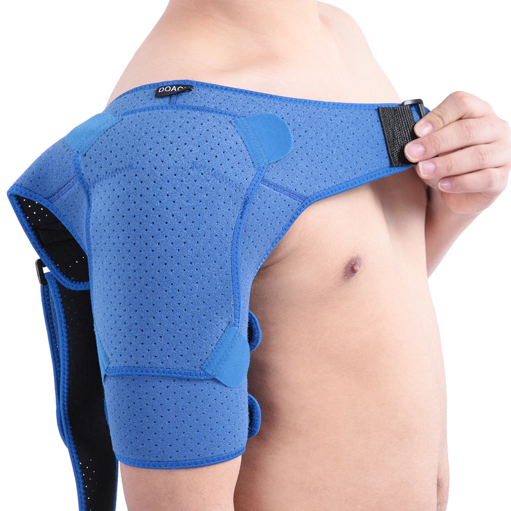 Adjustable Pressurized Support Shoulder Brace for Men and Women Relieves Pain for Rotator Cuff Dislocated Joint Sport Injury S L