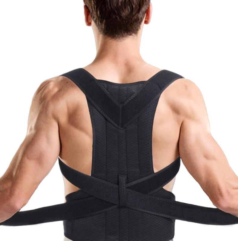 Adjustable Posture Corrector Fitness Back Support Shoulder Lumbar Brace Support Adjustable Belt Comfortable Corrector For Men