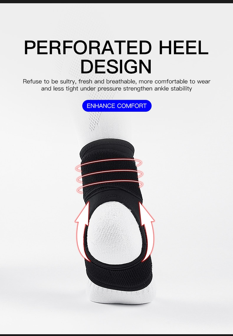 Kyncilor 1 PCS 3D Compression Ankle Strap Gym Ankle Support Brace Basketball Volleyball Fitness Heel Protector Sport Ankle Brace