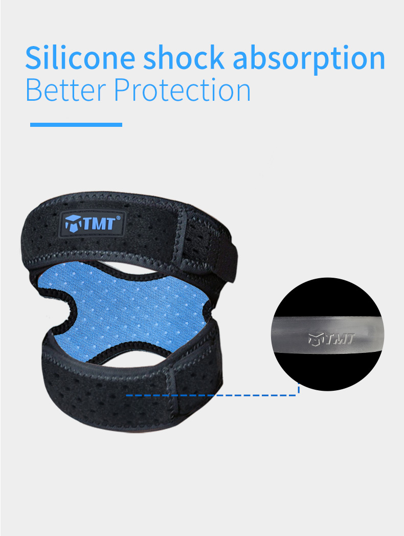 TMT  2 PCS Knee Brace Pads for Gym Sports Running Adjustable Kneepads Climbing Volleyball Patella Guard Protector Support Strap