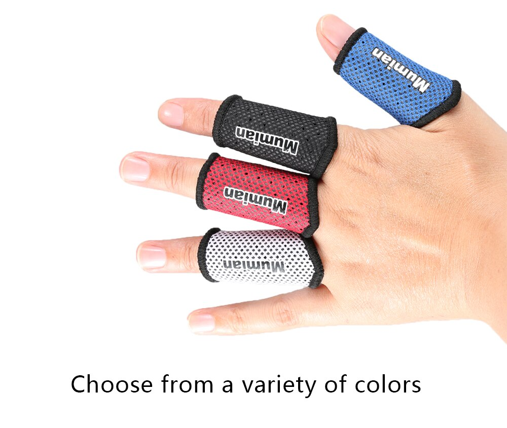 2PCS Sports Elastic Finger Sleeves Support Thumb Brace Protector Breathable Elastic Finger Tape for Basketball Tennis Volleyball